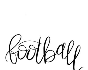 football digital svg cut file for cricut or silhouette