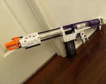 Nerf Caliburn Homemade Blaster r2 - Mag-Fed Pump-Action - Assembled/Tested