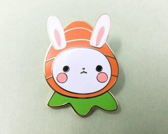 Carrot Bunny Lapel Pin