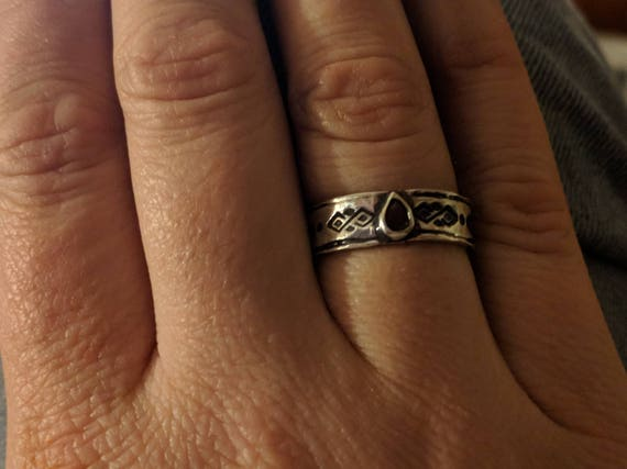 Skyrim Inspired Silver & Ruby Ring Not Yet Enchanted