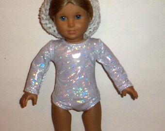 Sparkling Leotard, 18 Inch Doll,  Ballet, Dancewear, Gymnastics, American Made, Girl Doll Clothes