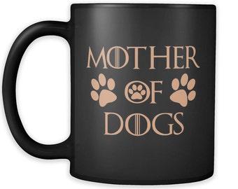 Mother Of Dogs Black Mug 03
