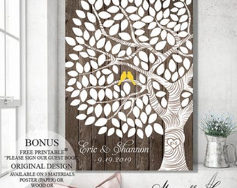 Rustic Guest Book, Wedding Guest Book Alternative, Wedding Tree, Wood Guest Book Tree, Wedding Gift, Personalized Wedding Signs, Guestbook
