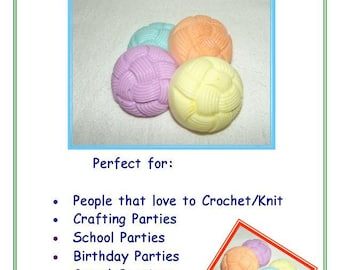 30 Yarn Soaps, Soap for Knitters, Soap for Crocheters, Yarn Ball Soap, 30 Pack of Soap