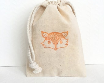 10 Fox Favor Bags - Woodland Favor Bags - Animal Themed Party - Fox Birthday Favor Bags - Woodland Baby Shower - Fox Party Favors - Fox Bags
