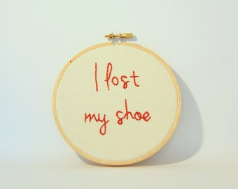 Sam Winchester Supernatural Embroidery Hoop Wall Art – I Lost My Shoe