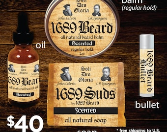1689 Beard Bundle (FREE SHIPPING)- Regular Hold Balm