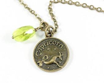 Zodiac Necklace, Zodiac Sign Necklace, Capricorn Necklace, Horoscope Jewelry Astrology Jewelry Zodiac Jewelry,Zodiac Gift Leo Scorpio Pisces