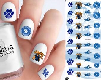 University of Kentucky Wildcats Nail Decals (Set of 50)