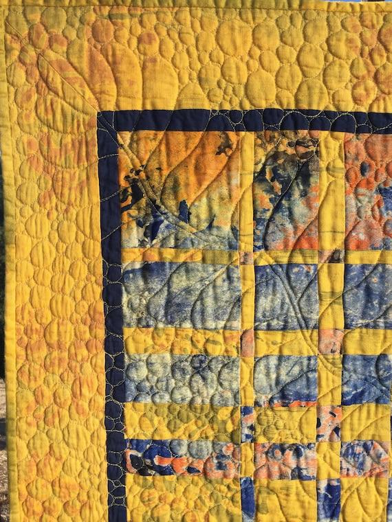 Original design contemporary textile quilted wall art. Modern