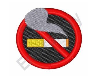 No Smoking - Machine Embroidery Design