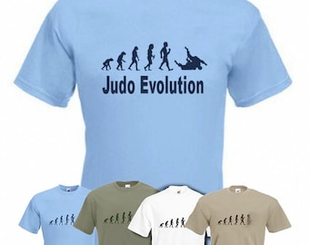 Evolution to Judo t-shirt Funny martial arts T-shirt sizes S TO 2XXL
