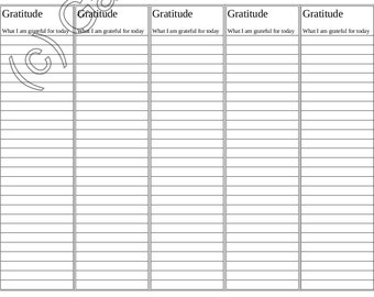 Gratitude Bookmark - printable