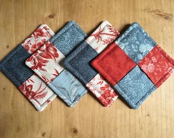 Set of 4 fabric coasters