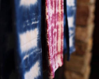 Tie Dye Shibori Tea Towels - 100% Cotton - Hippie - Home Decor - Set of 3 -