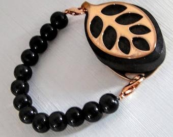 SALE ITEM! Black Pearl Bracelet for the Bellabeat LEAF