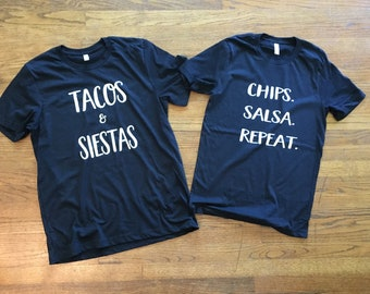 Tacos and Salsa T-shirts