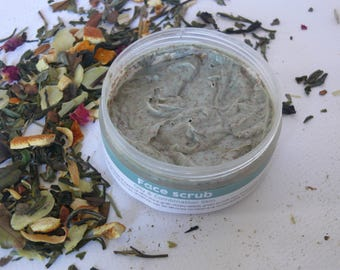 Natural Face Scrub, Oily & Combination skin, Face Exfoliator, Vegan skin care, Natural cosmetic,Face scrub by Myrtillocosmetics