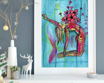 Blossom Heart | Yoga Art Print