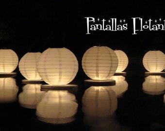 Floating paper lanterns (5 pack)