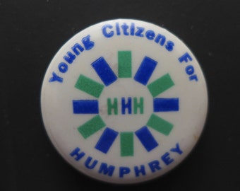 """Humphrey 1968 Presidential Campaign Button - """"Young Citizens For Humphrey"""""""