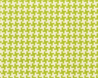 Michael Miller Textured Basics by Patty Young Vintage Houndstooth in Lime by the Yard