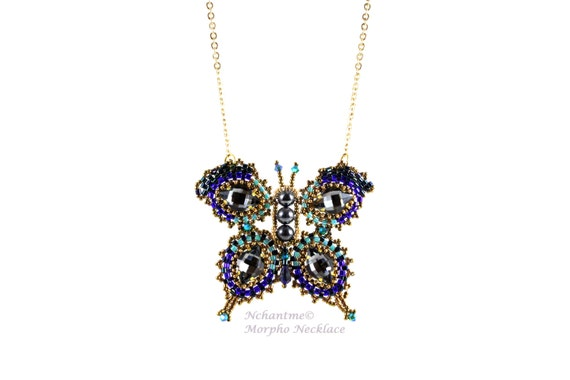 Morpho Necklace Tutorial for Instant Download