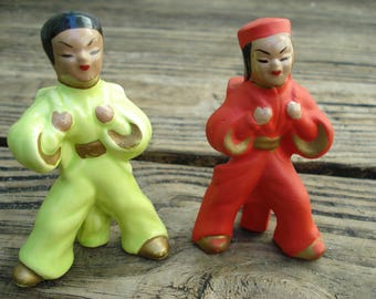 Asian Couple Salt and Pepper Shakers