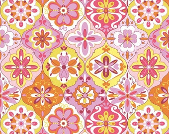 SALE - Splendor - Ceramic Pink from Riley Blake Designs  by Lila Tueller Designs. 100% cotton, c3913 - Pink - 1 Fat Quarter