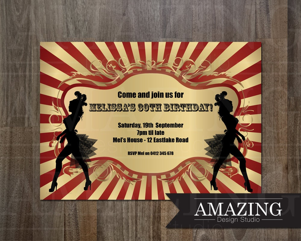 Party Invitation Personalized Printable Invite Birthday