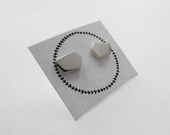 Geometric studs modern stud earrings modern earrings geometric jewelry silver studs silver earrings contemporary earrings silver jewelry