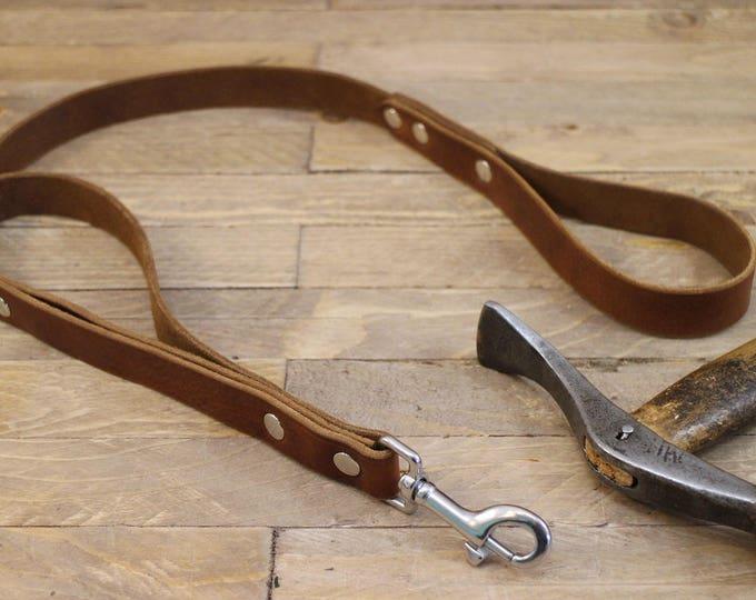Dog lead, Leather leash, Training leash, Handmade two handle leash, Heavy duty leash, Control lead, Strong leash, Lead, Traffic leash.