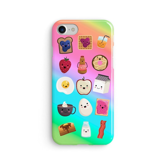 Kawaii breakfast items  iPhone X case - iPhone 8 case - Samsung Galaxy S8 case - iPhone 7 case - Tough case 1P011