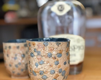 Set of 2 handmade ceramic tumblers wine glasses rocks glasses whiskey cup whisky cup whiskey glass pottery gift idea gifts under 50