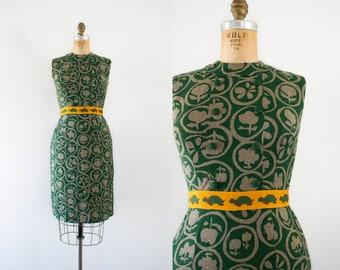 1960s Turtle Trove novelty wiggle dress / 60s unique print