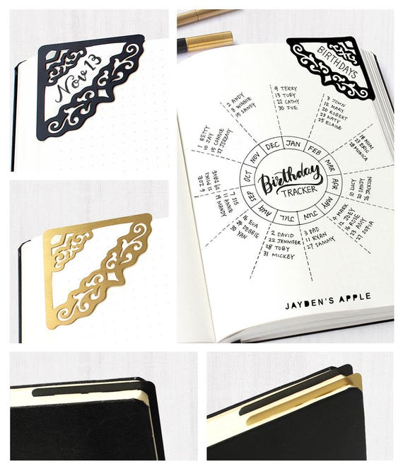 Decorative Corner Stencil Bookmarks