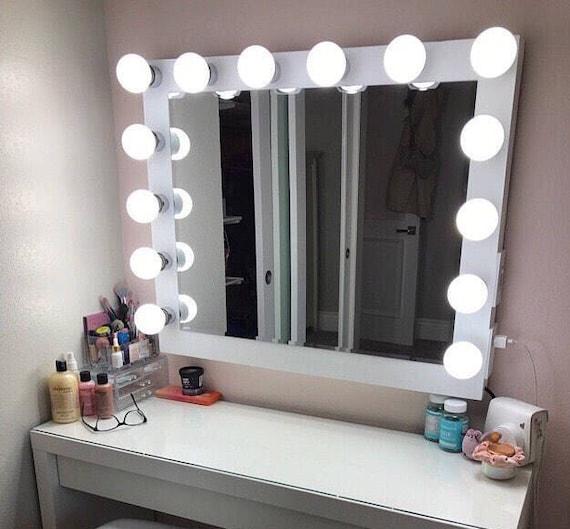 Hollywood Vanity Mirror Perfect For Ikea Vanity Bulbs Not