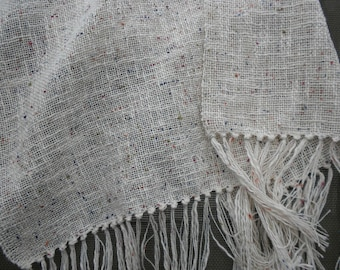 Handwoven  Scarf in Textured Cotton