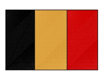 Buy 1 Take 1 Embroidery Design, Belgium Flag Machine Embroidery Design, Instant Download, Fits 4x4 Hoop Size, 9 Formats