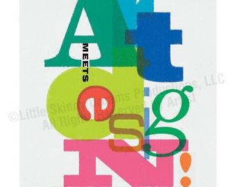 Art Meets Design! (Vs. 2), 18 x 24 Tribute Art Print