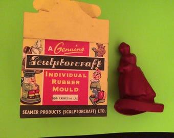 Vintage Seamer England SculptorCraft Ltd Rubber Mold Crinoline Lady