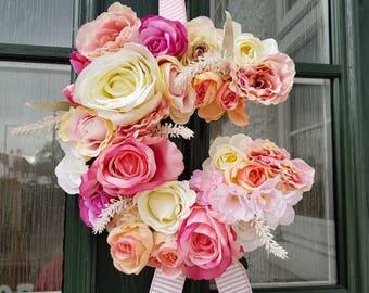 Floral letter, floral decor, rustic decor, flower letters, wall decor,