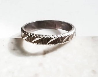 Antique Sterling Silver Stackable Ring Size 9 US