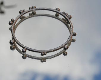 Sterling silver bubble bangle