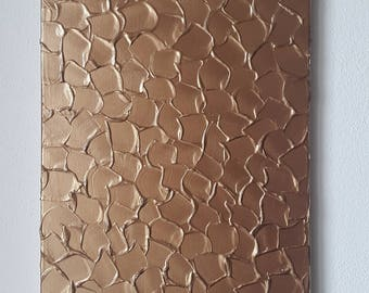 Antique Copper Painting, Copper Acrylic Painting, Textured Painting, Abstract Metallic Art, Copper Metallic Painting, Original Abstract Art