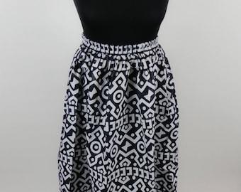 Bogolan high waist cotton skirt
