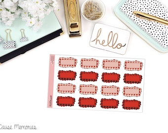 BUFFALO PLAID BOXES Paper Planner Stickers!