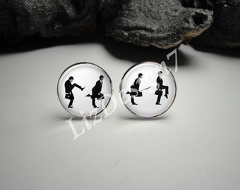 Ministry of Silly Walks Cuff Links and Tie Clip, Monty Python Jewelry, Monty Python Cuff Links. Monty Python Jewelry