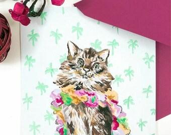 Custom Pet Portrait Card - Pet Painting - Personalized Illustration