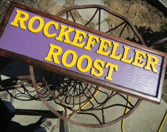 Wooden Signs, Rustic, Custom designed and carved, Unlimited colors, Various woods, Raised or inlayed text and lettering,